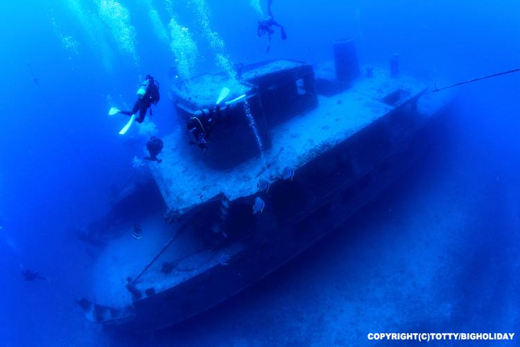 宮古島 ダイビング 沈船