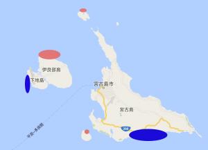 宮古島体験ダイビングの地図
