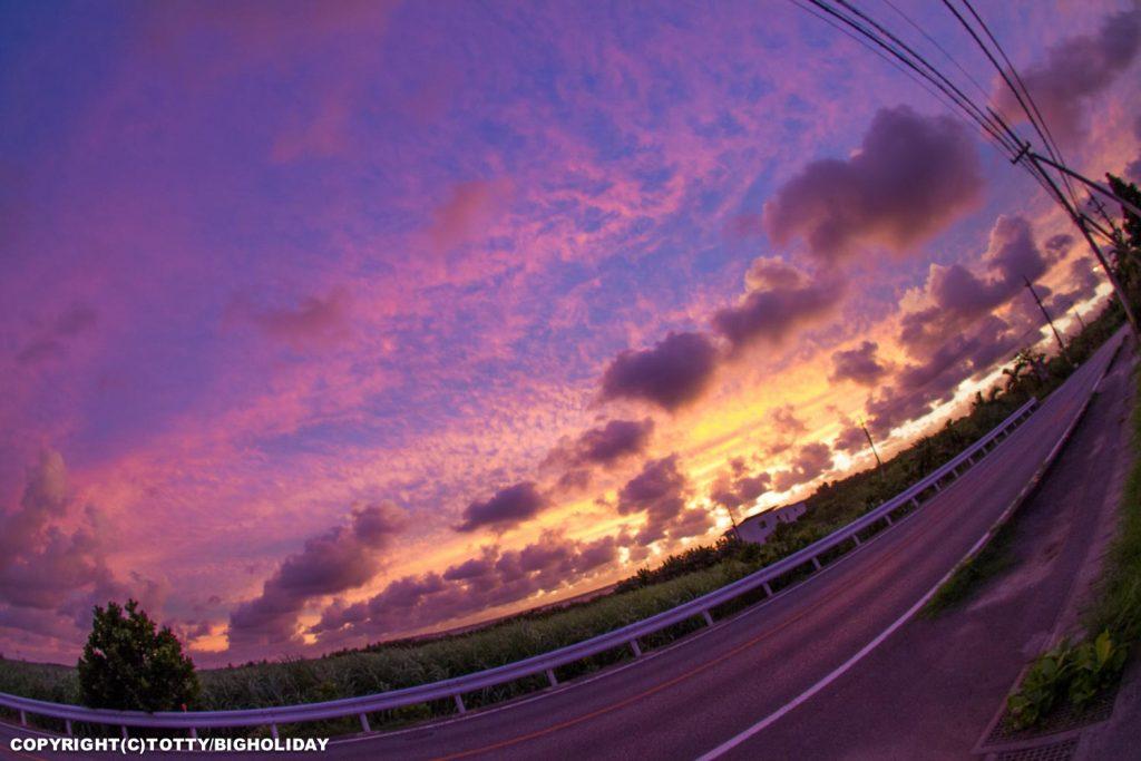 台風直前の夕焼け
