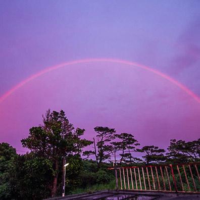 奇跡の虹 宮古島
