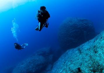 大津波の力を思い知る ダンゴ岩