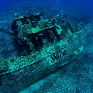 宮古島ダイビング沈船