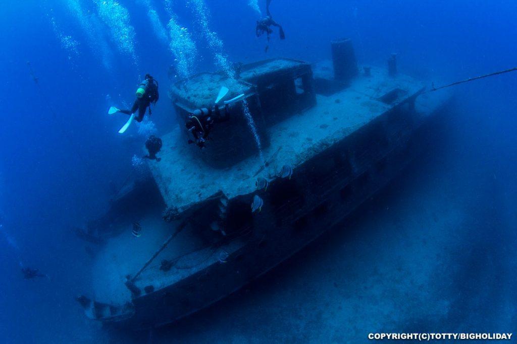 宮古島ダイビングスポット:沈船イラブ