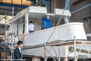ダイビングボート造船過程2