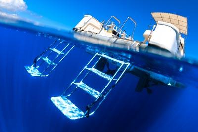 ダイビングボート用ハシゴ