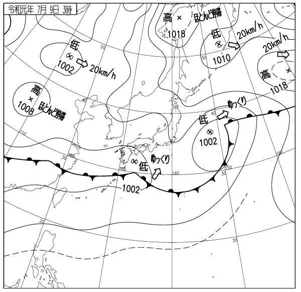 宮古島天気図