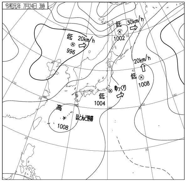 昨日の天気図